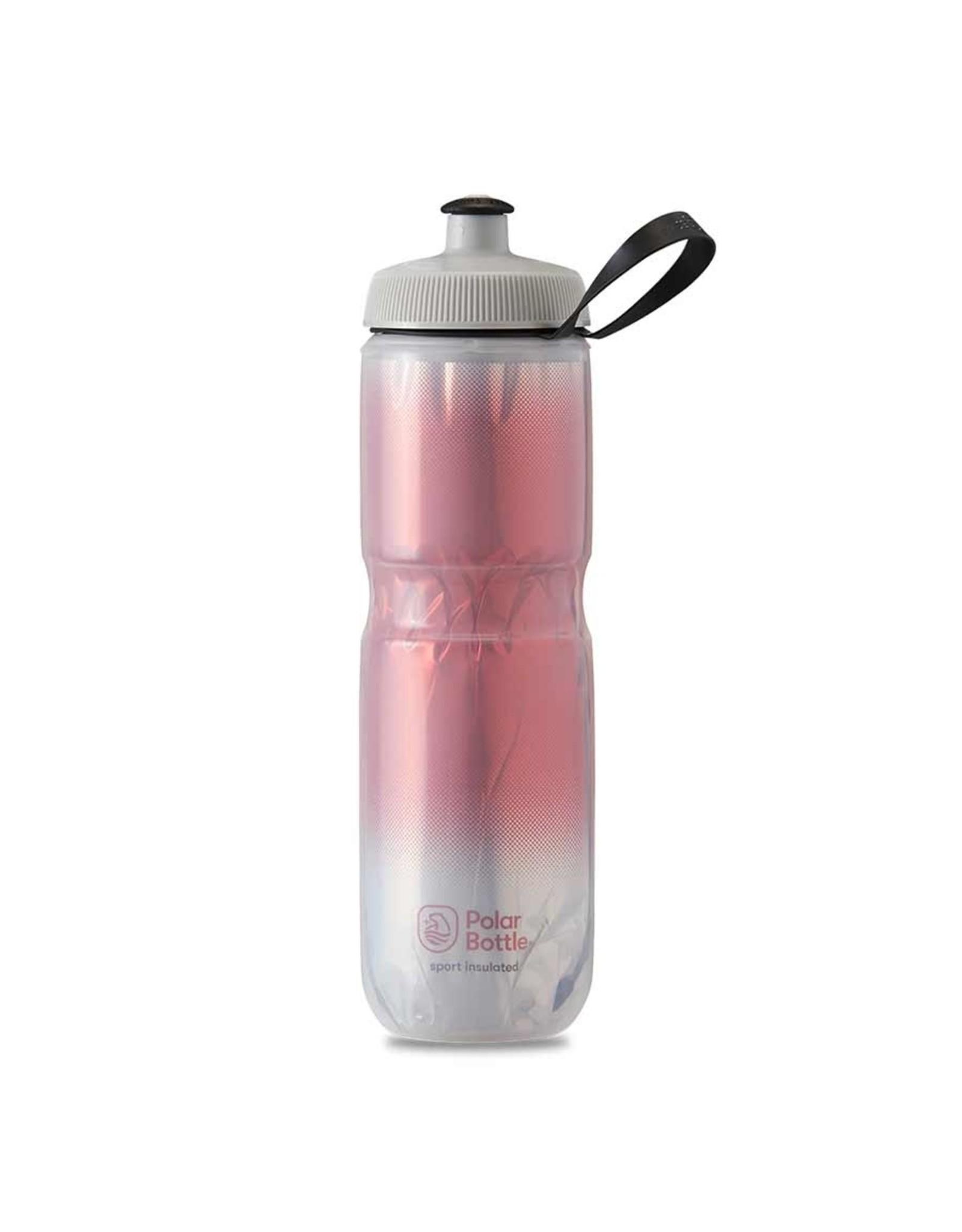 Polar Bottle Polar - Sport Insulated 24oz, Water Bottle, 710ml / 24oz, Red/Silver