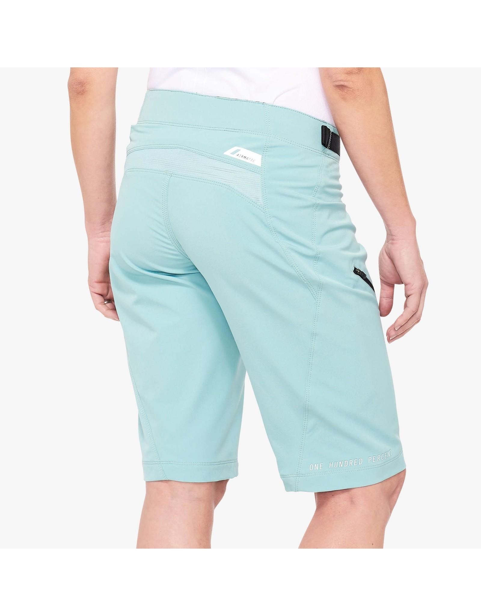 100% 100% - AIRMATIC Women's Shorts Seafoam - S