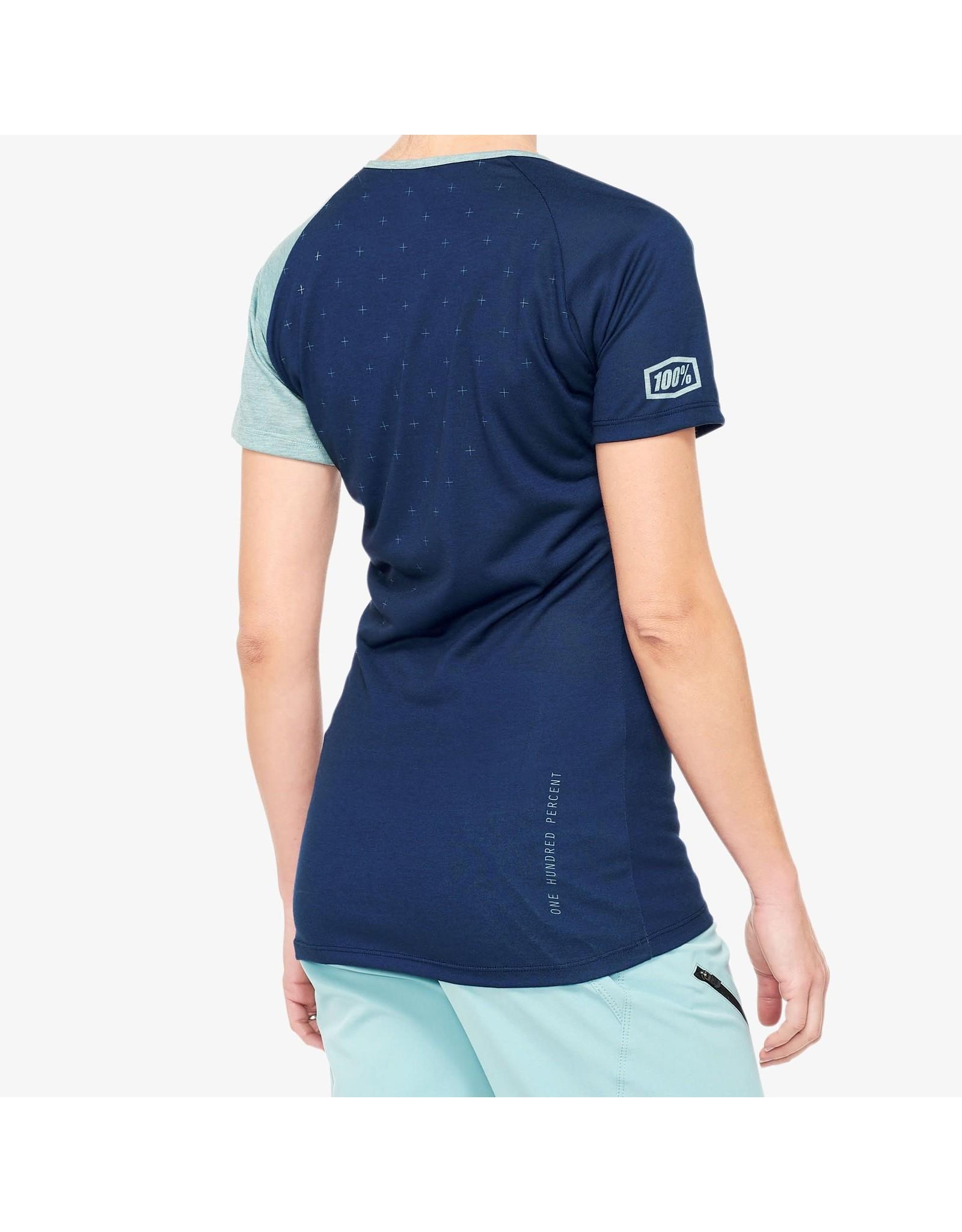 100% 100% - AIRMATIC Women's Jersey Navy/Seafoam - L