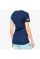 100% 100% - AIRMATIC Women's Jersey Navy/Seafoam - M