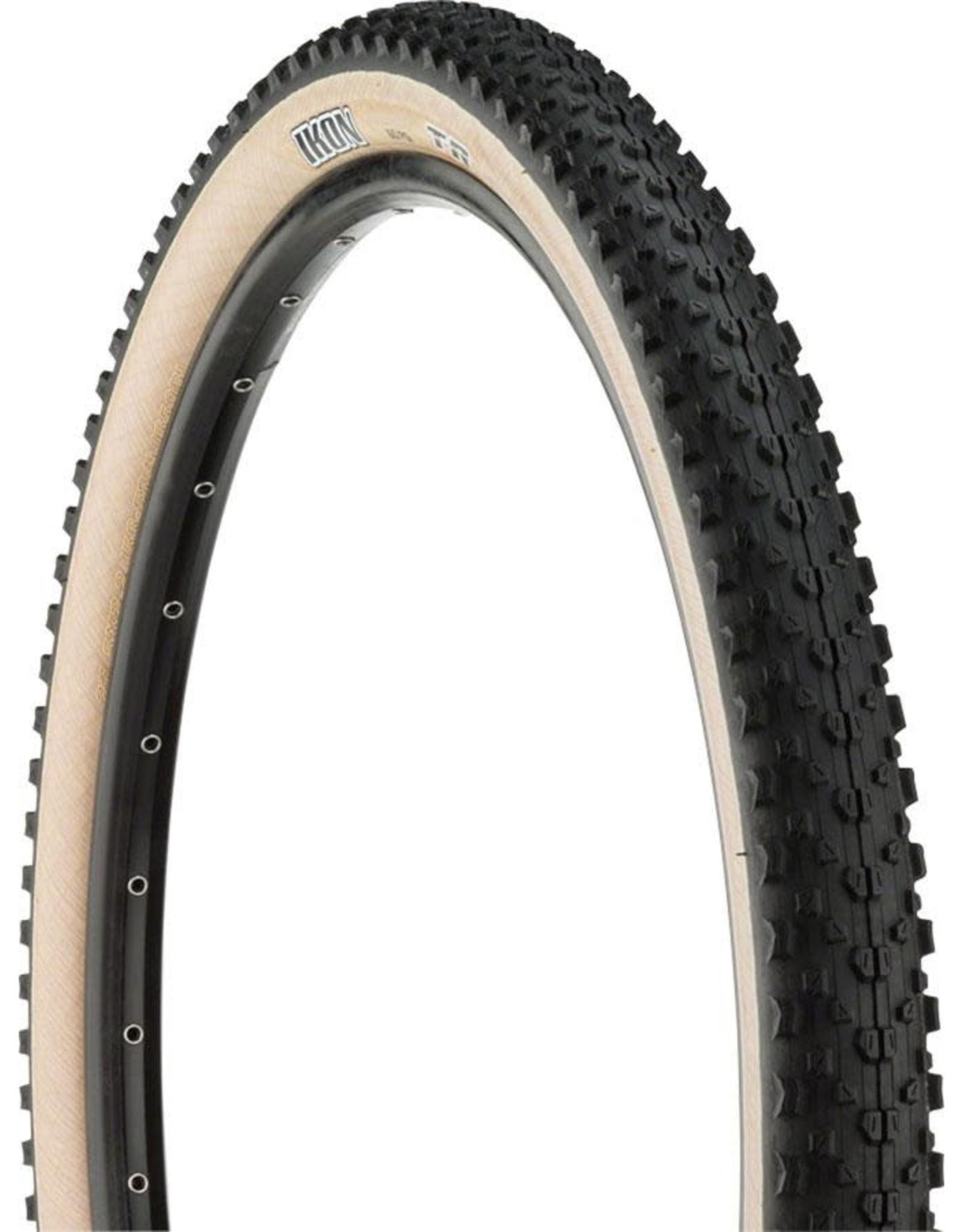 Maxxis Maxxis - Ikon Tire - 27.5 x 2.2, Tubeless, Folding, Black/Light Tan, Dual, EXO