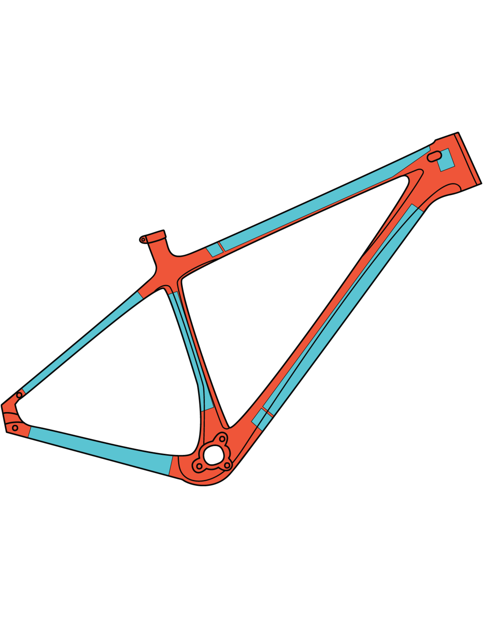 RideWrap RideWrap - Covered Hardtail MTB, Protective Wrap, Matte Clear