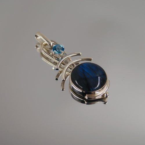 Purple Gems Purple Gem Jewelry Double Arc Pendant