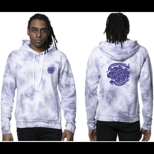Free Will Collective Free Will Collective Purple Haze Tie Dye Hoodie