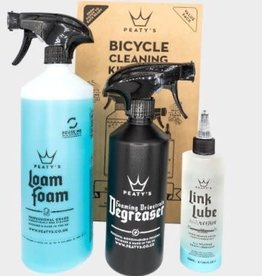 Peaty's PEATYS CLEANING KIT-WASH DEGREASE-LUBRICATE