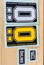 Ohlins Sticker Kit RXF36 Yellow/White