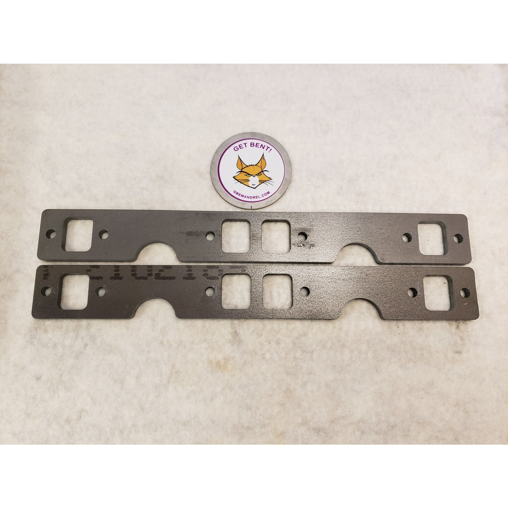 GM CHEVY 262-400 SMALL BLOCK SQ. PORT STEEL HEADER FLANGES