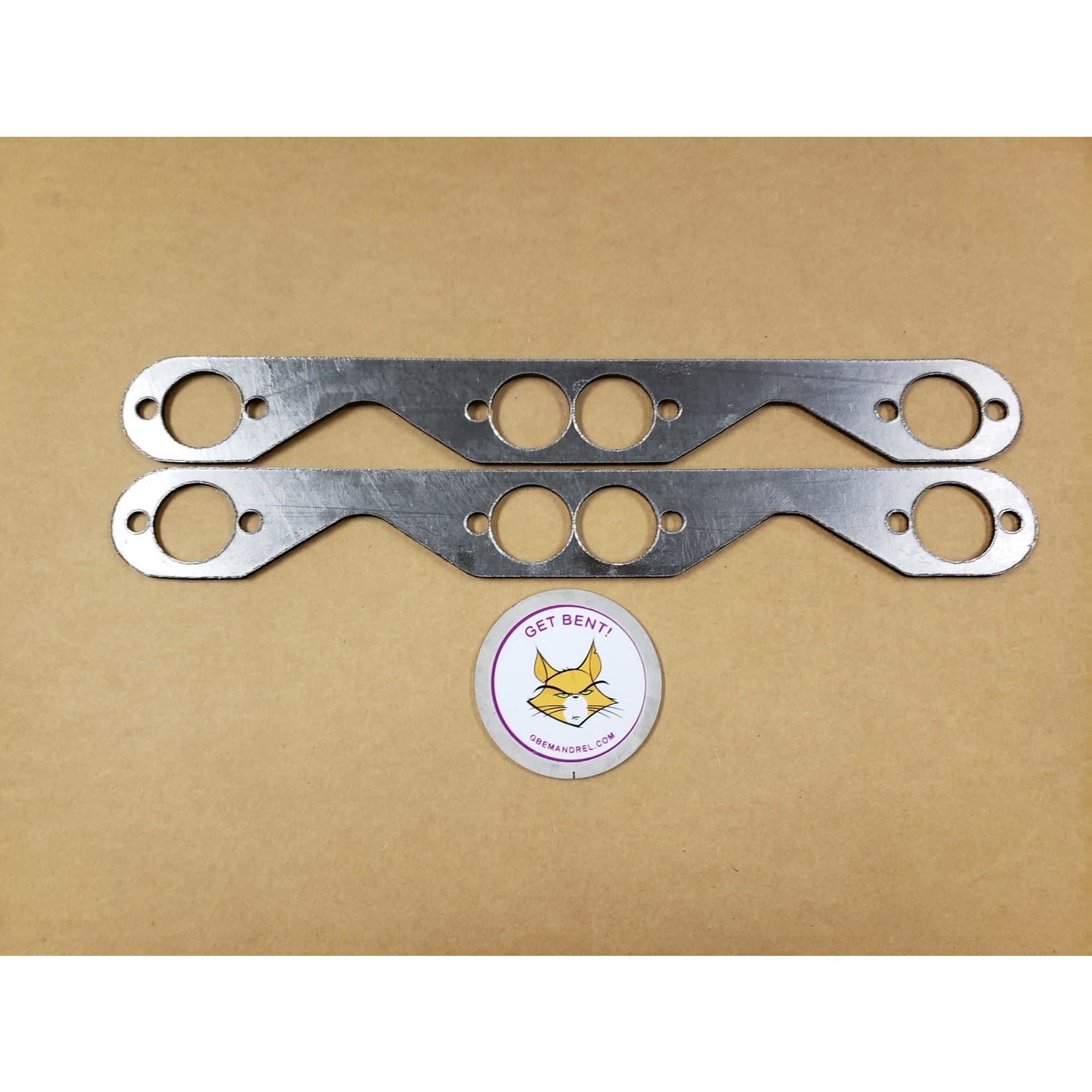 GBE GM CHEVY 262-400 SMALL BLOCK RND. PORT GRAPHITE HEADER GASKETS