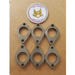 GBE CHEVY CORVAIR STEEL INTAKE FLANGES-4 pack