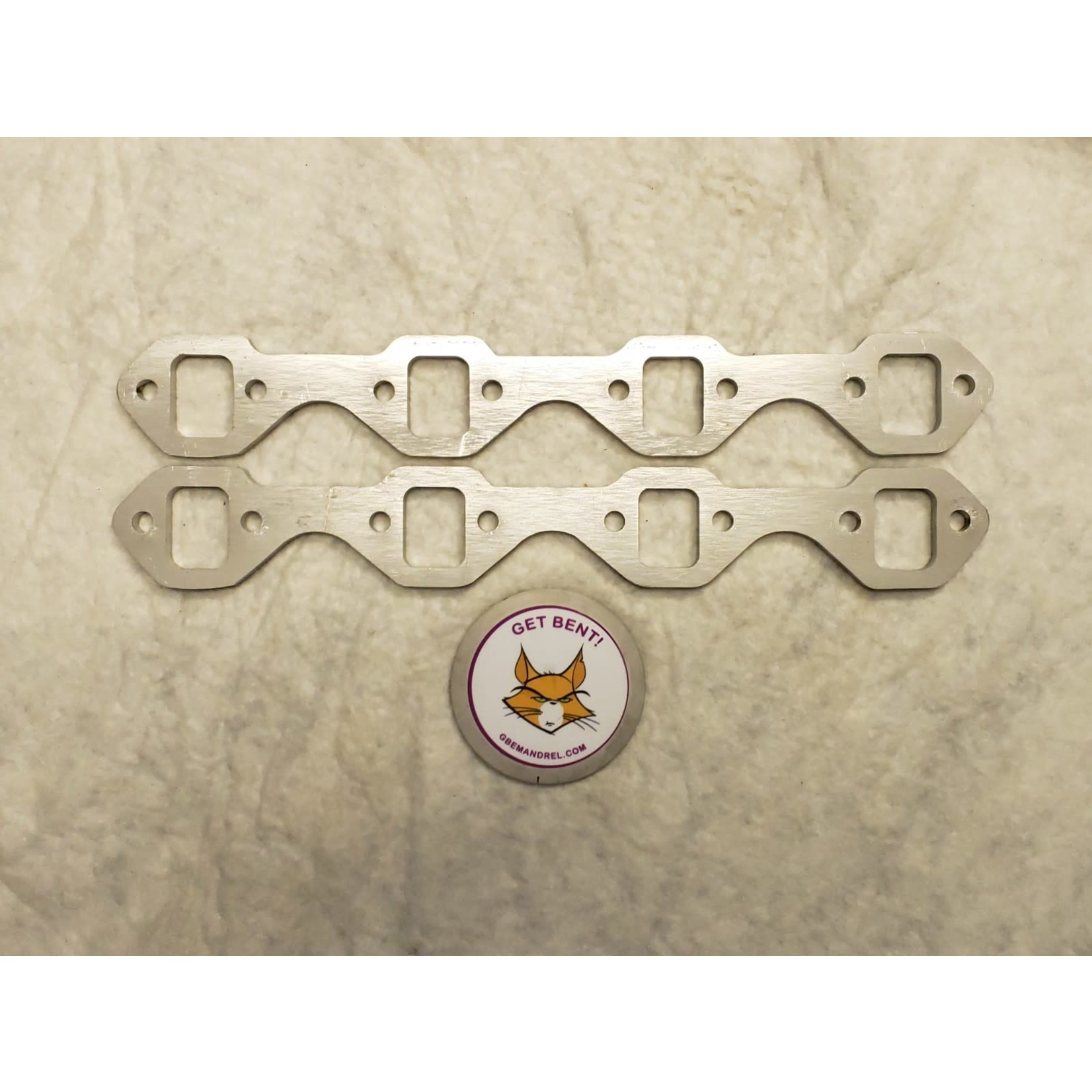 GBE GBE FORD SBF 260 289 302 304SS EXHAUST HEADER FLANGES - LASER CUT