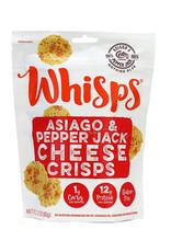 Cello Whisps Whisps - Cheese Crisps, Asiago & Pepper Jack