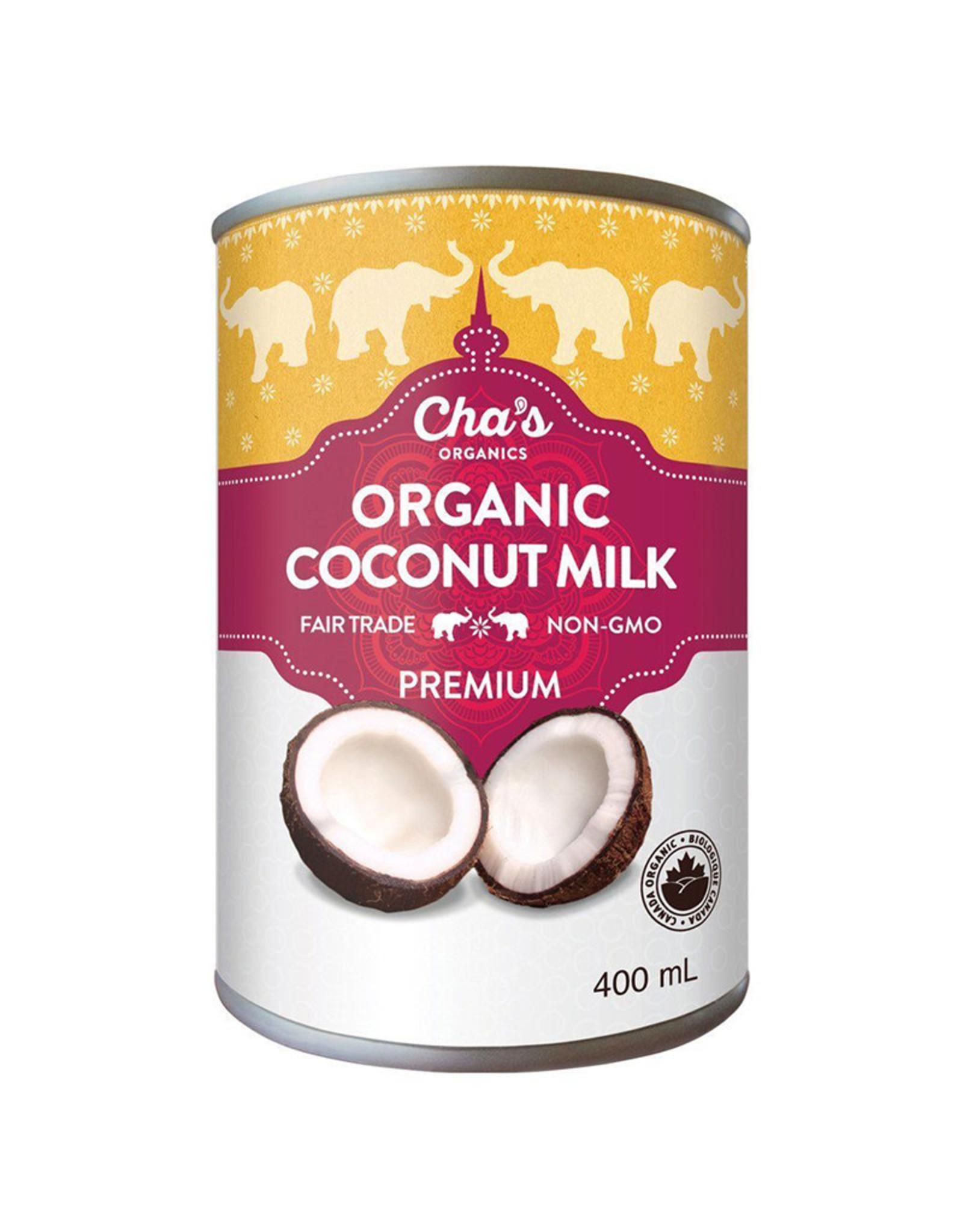 Chas Organics Chas Organics - Coconut Milk, Premium (400ml)