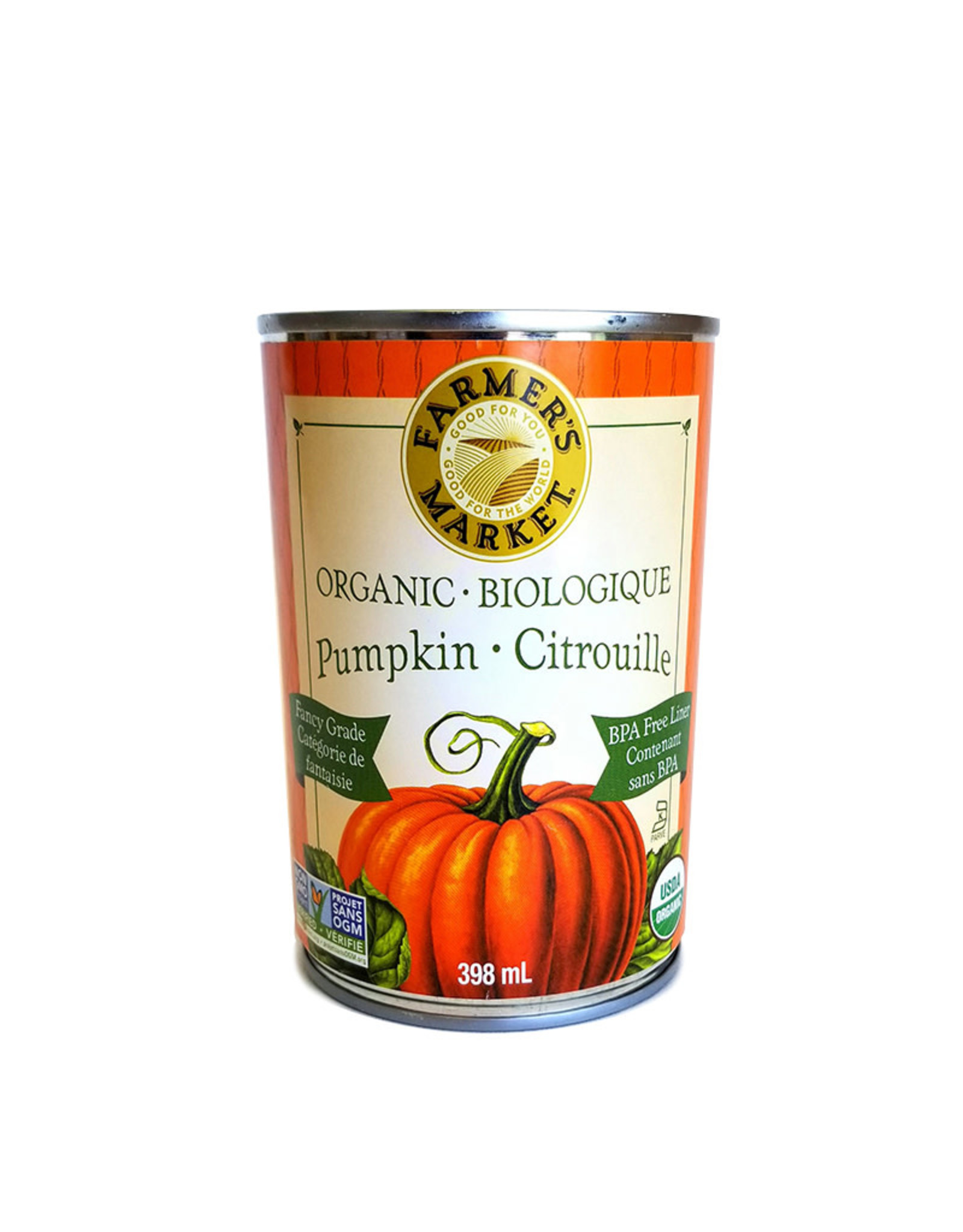 Farmer's Market Farmer's Market - Organic Canned Pumpkin Puree (397g)