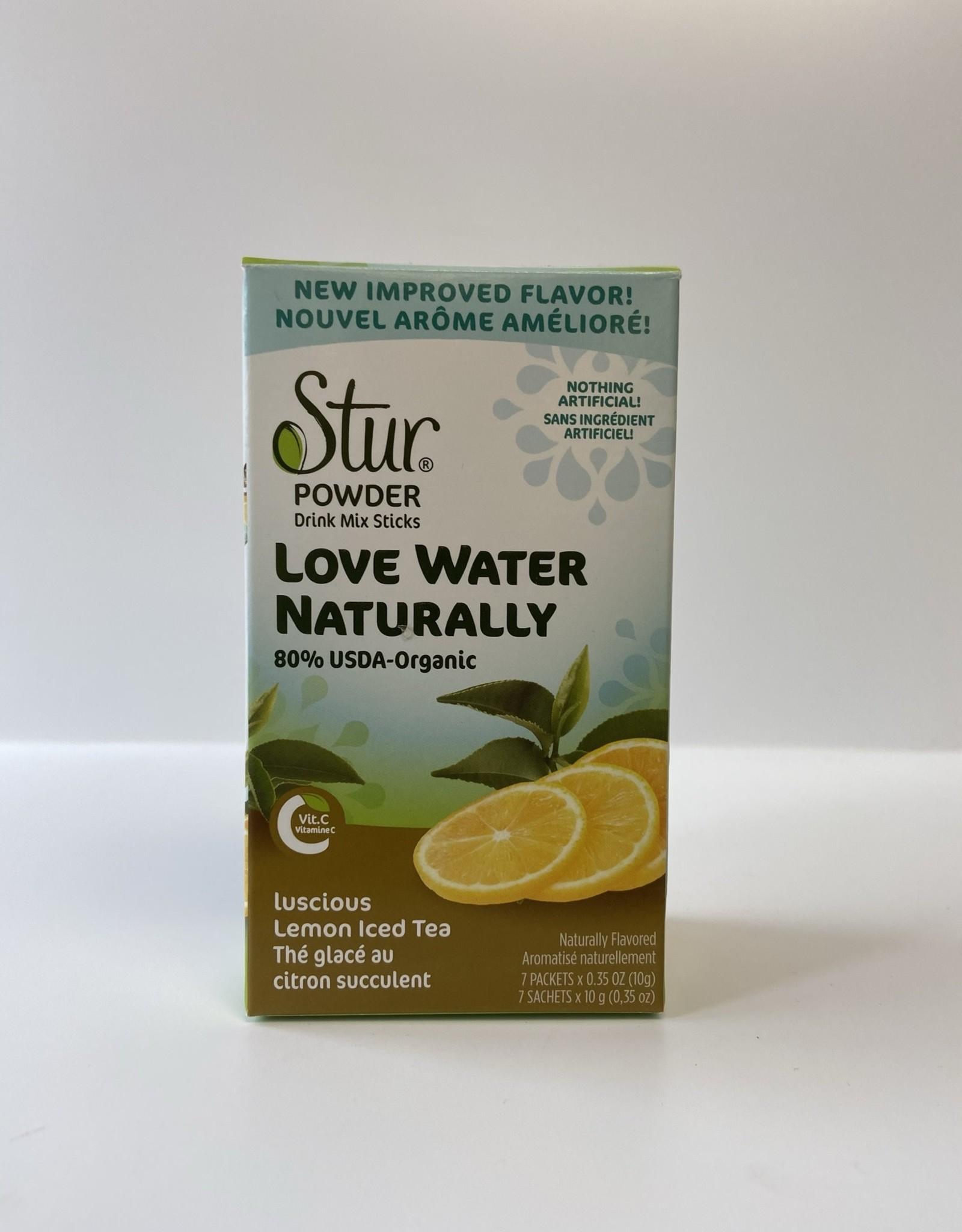 Stur Stur - Powder Drink Mix Sticks, Luscious Lemon Iced Tea