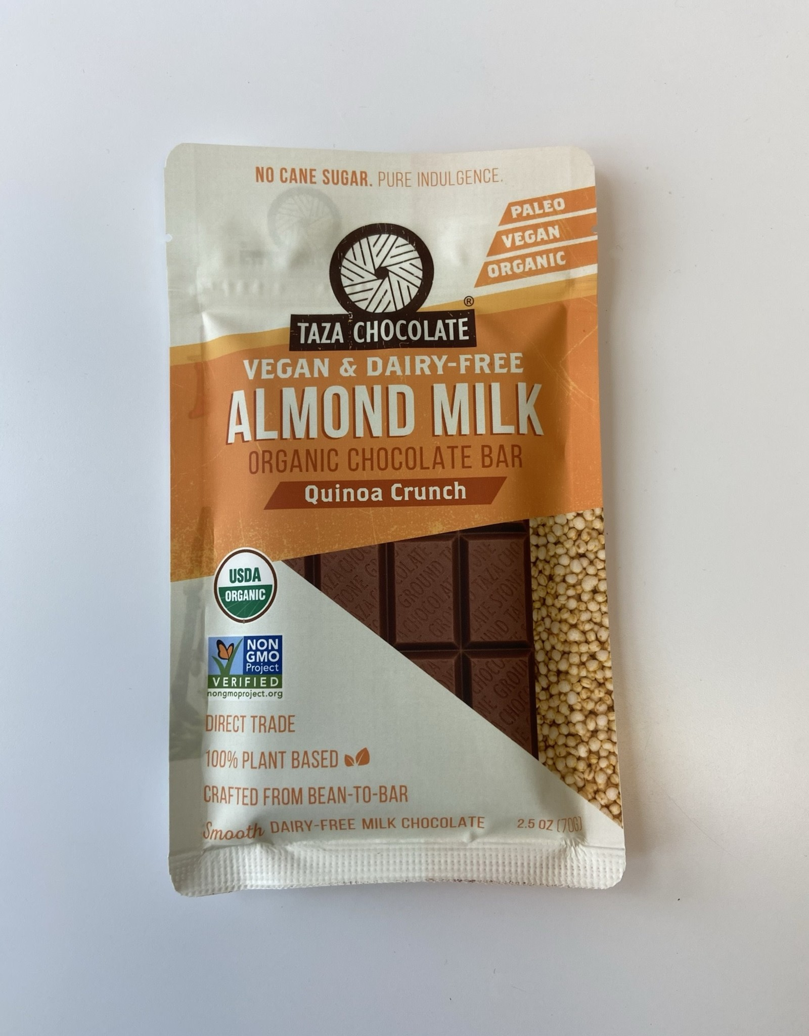Taza Chocolate Taza Chocolate - Almond Milk Chocolate, Quinoa Crunch (70g)