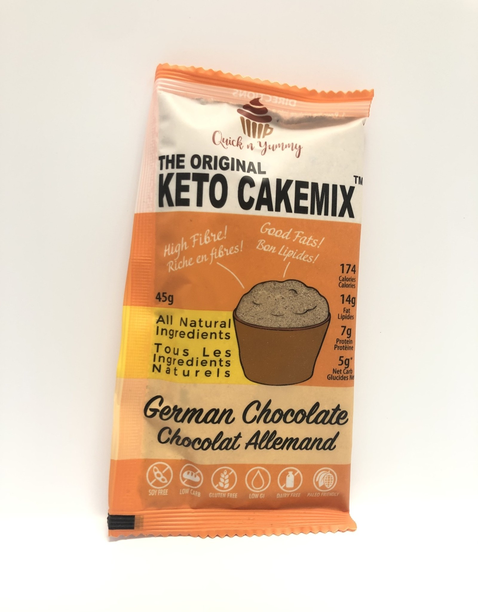 Quick n Yummy Quick n Yummy - Keto Cake Mix - German Chocolate (45 g)