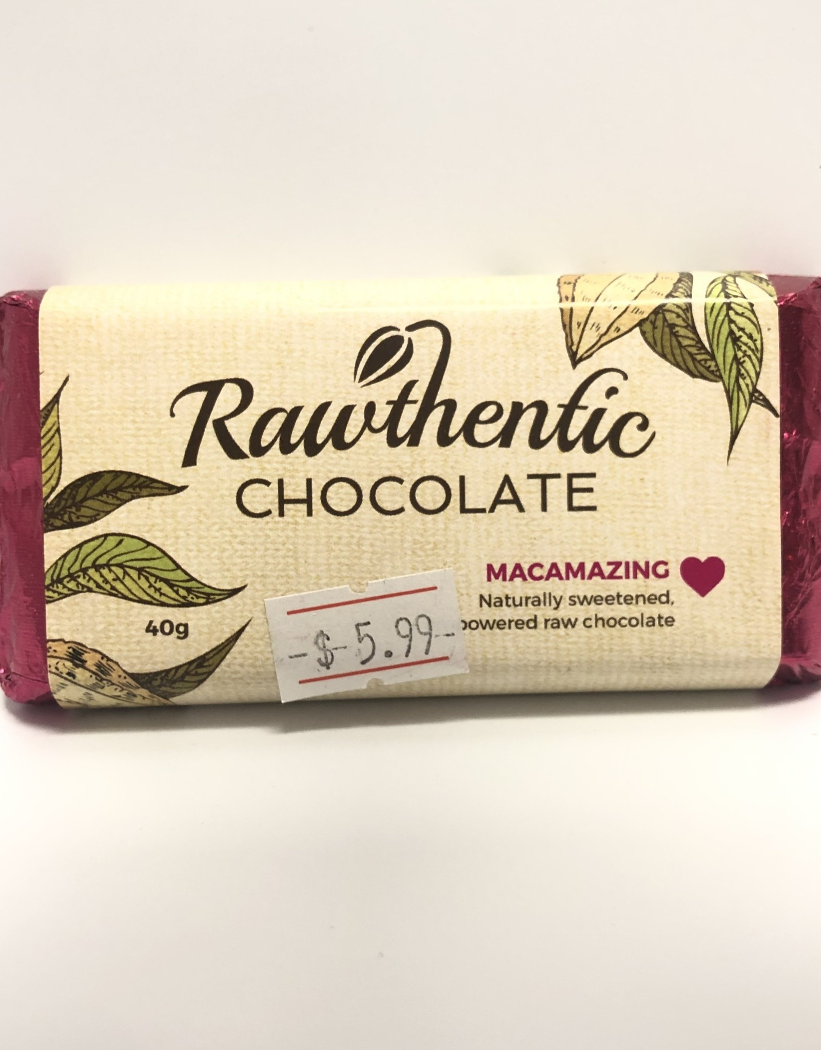 Rawthentic Chocolate Rawthentic Chocolate - Bar, Macamazing