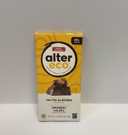 Alter Eco Alter Eco - Chocolate Bar, Dark Salted Almonds
