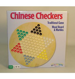 Play All Day Games Chinese Checkers wood w/ Marbles