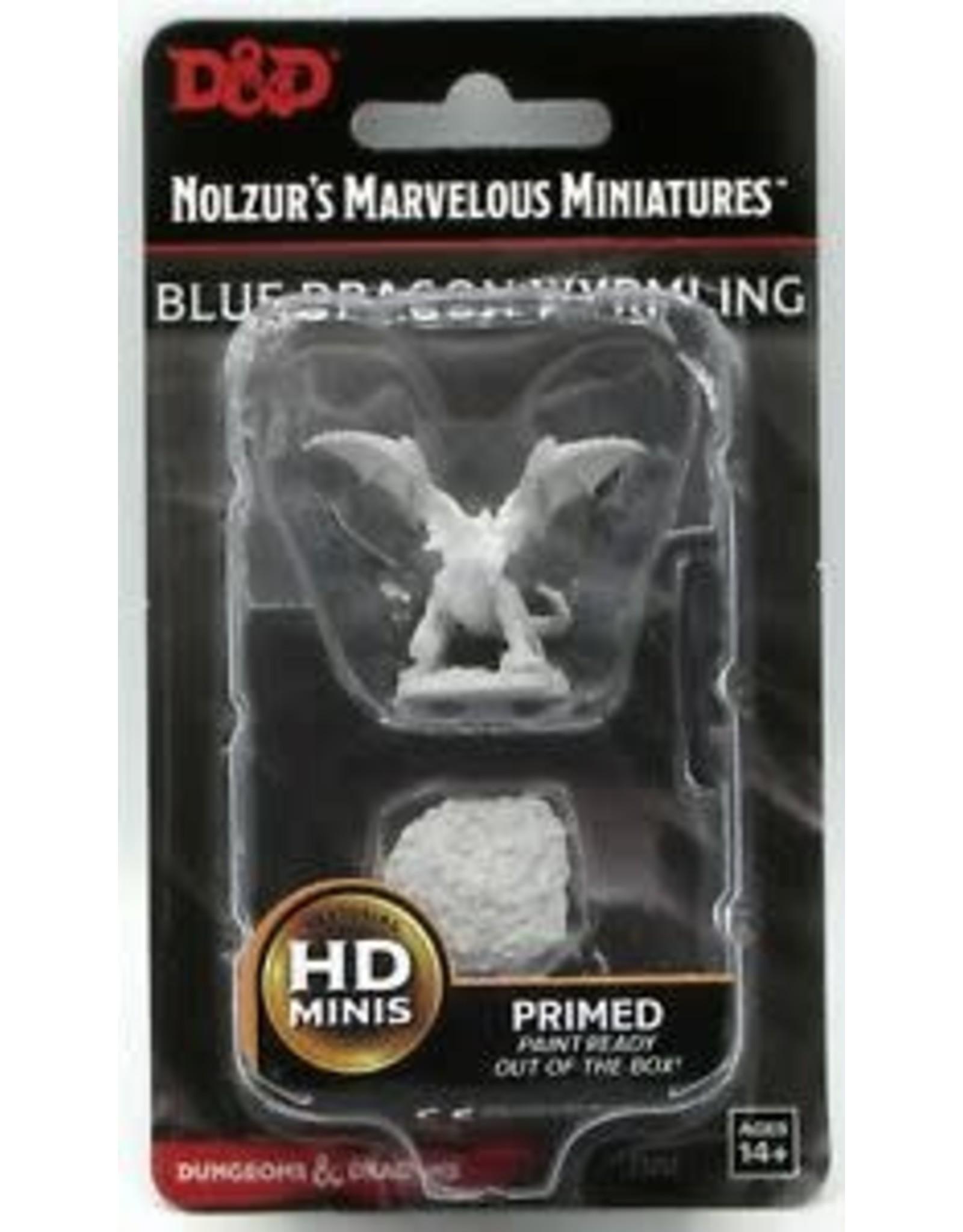 WizKids D&D Unpainted Miniature Blue Dragon Wyrmling