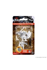 WizKids D&D Unpainted Miniature Dragonborn Fighter