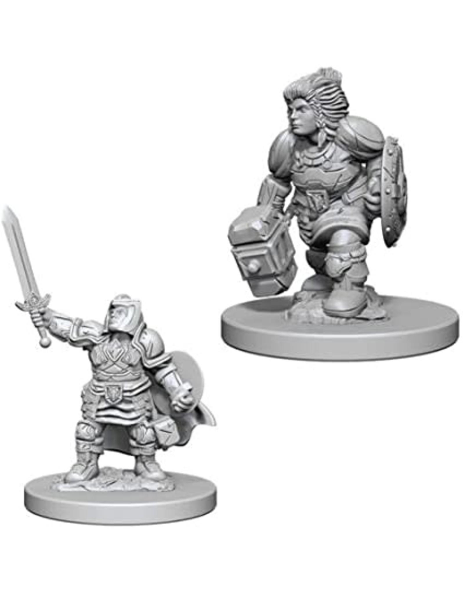 WizKids D&D Unpainted Miniature Dwarf Paladin (Female)