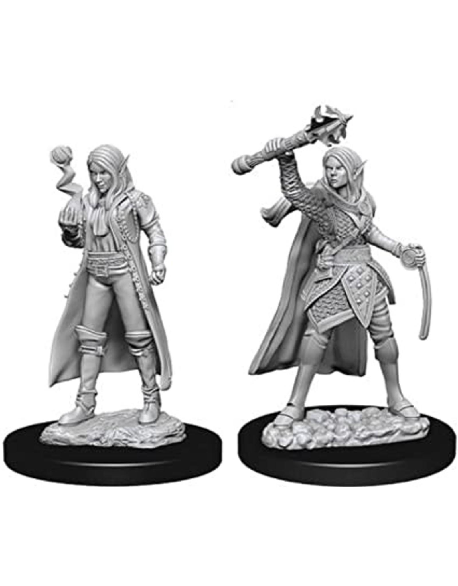WizKids D&D Unpainted Miniature Elf Cleric (Female)