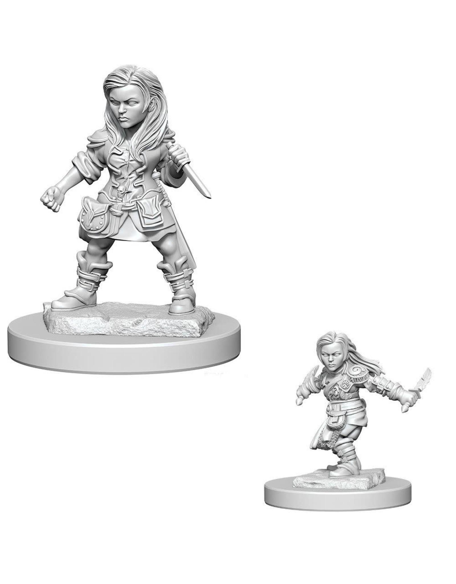 WizKids D&D Unpainted Miniature Halfling Rogue (Female)