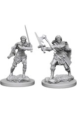 WizKids D&D Unpainted Miniature Human Barbarian (Female)