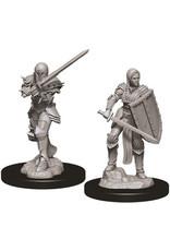 WizKids D&D Unpainted Miniature Human Fighter (Female)