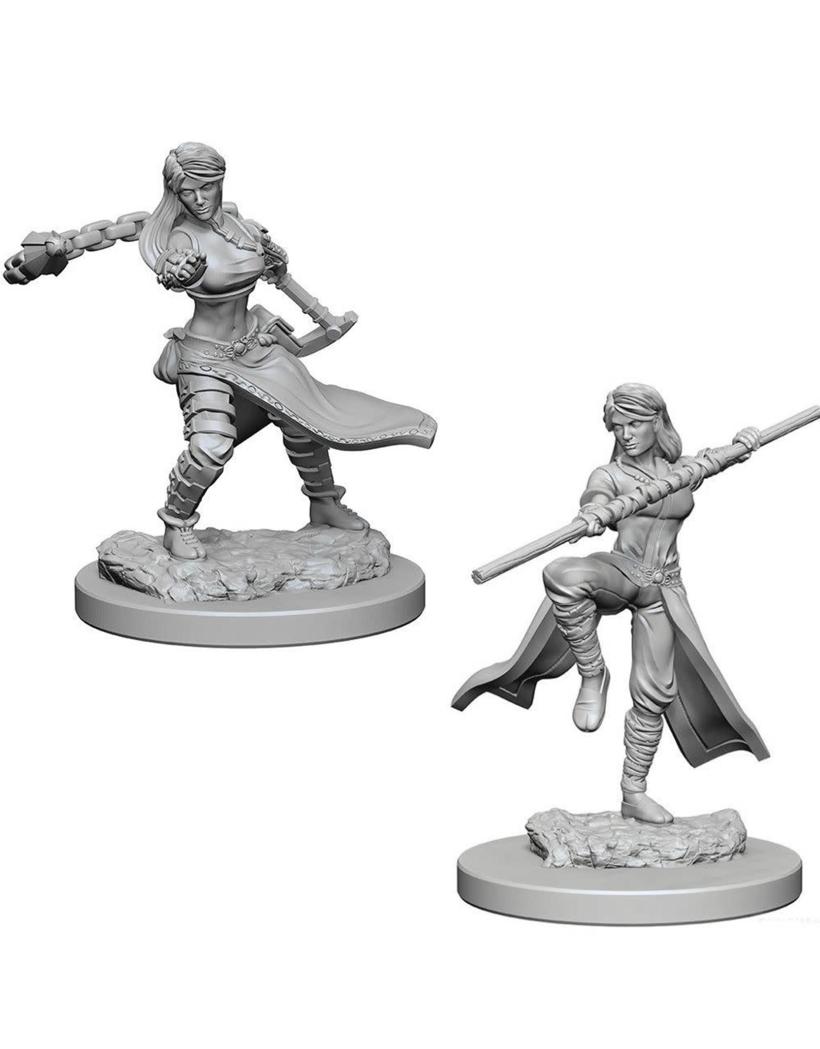 WizKids D&D Unpainted Miniature Human Monk (Female)