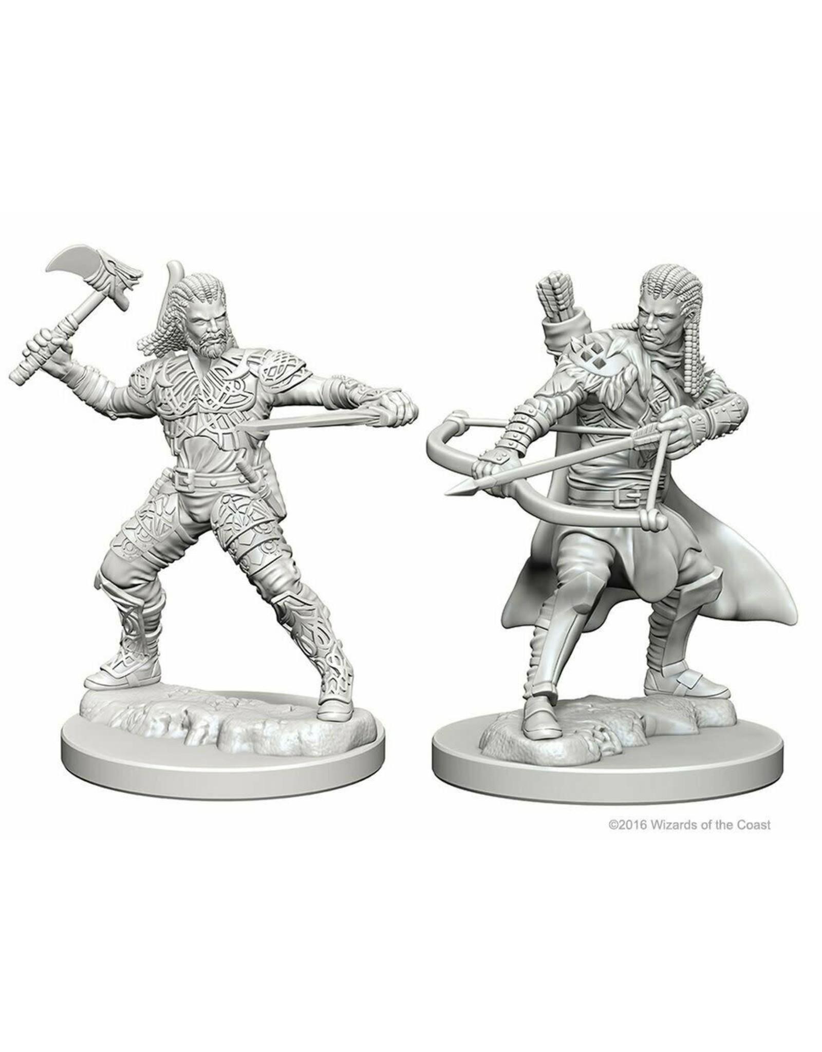 WizKids D&D Unpainted Miniature Human Ranger (Male)