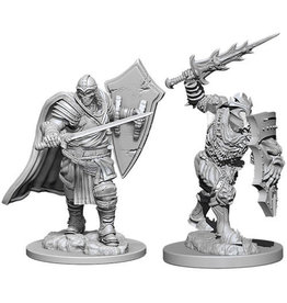 WizKids Dungeons & Dragons Nolzur's Marvelous Unpainted Miniatures: W6 Death Knight & Helmed Horror