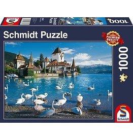 Schmidt Lakeshore Swans 1000 Piece Jigsaw
