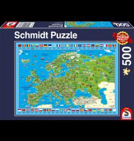 Schmidt Discover Europe 500 Piece Jigsaw