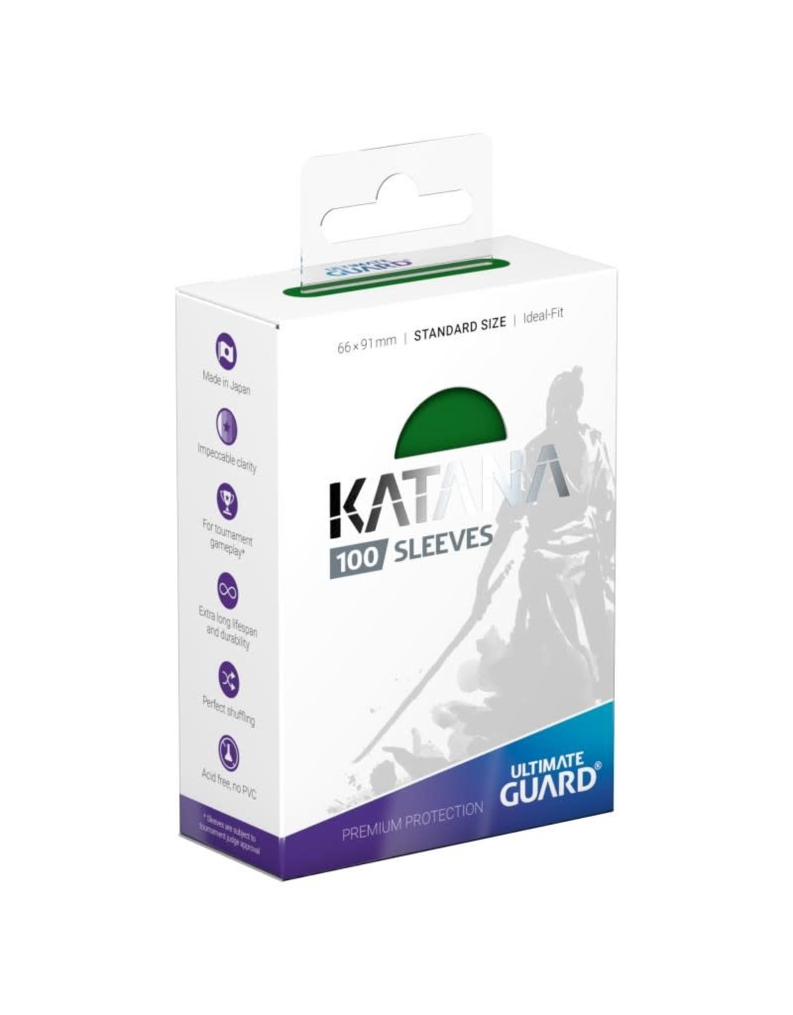 Ultimate Guard Katana Sleeves: 100ct Green