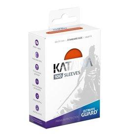 Ultimate Guard Katana Sleeves: 100ct Orange