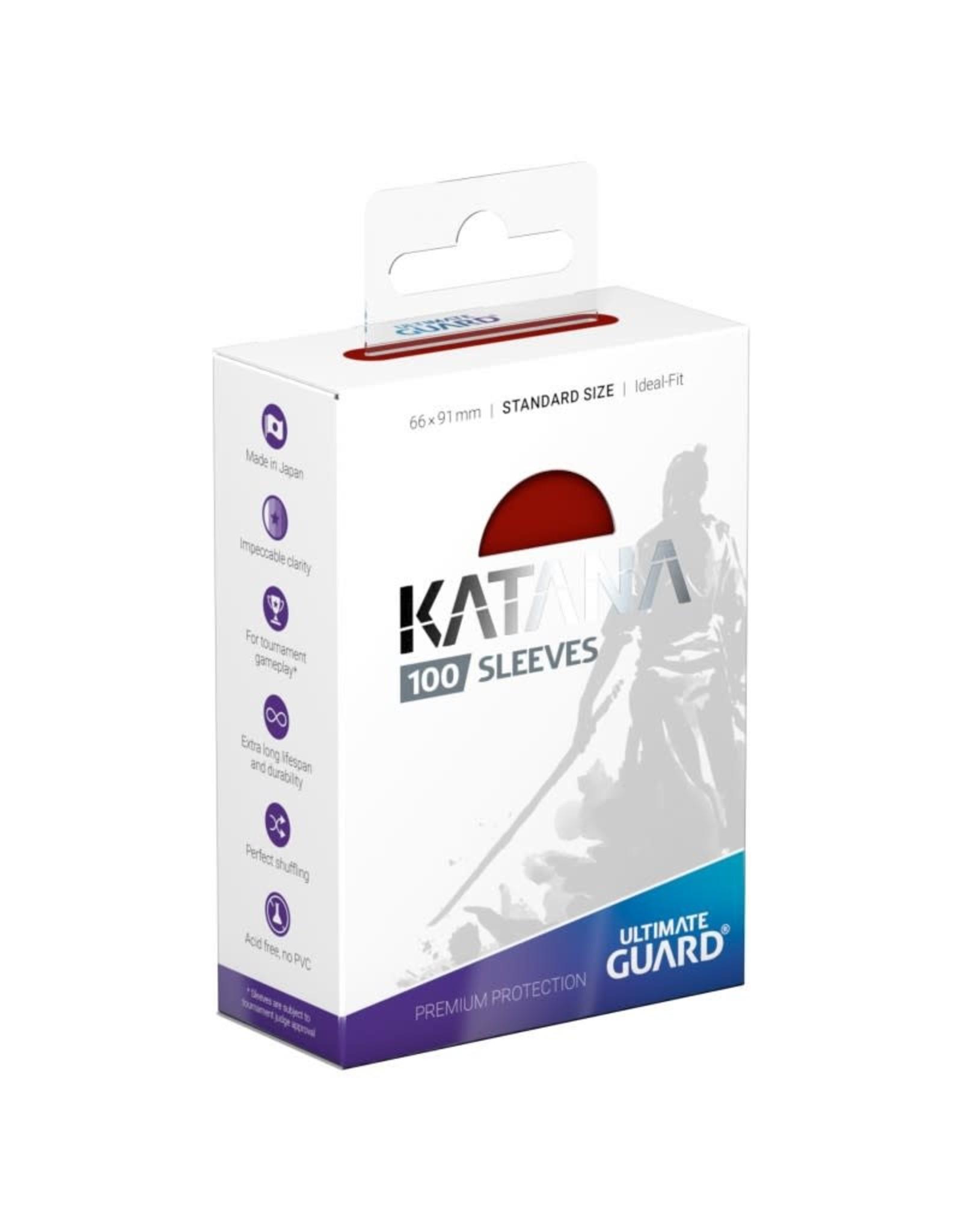 Ultimate Guard Katana Sleeves: 100ct Red