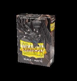 Dragon Shield Dragon Shield Japanese Size Black 60ct