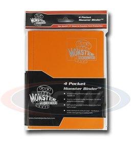 BCW Monster 4-Pocket Binder Matte Sunflower Orange