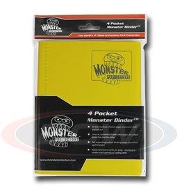 BCW Monster 4-Pocket Binder Matte Yellow