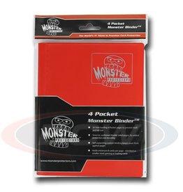 BCW Monster 4-Pocket Binder Matte Red