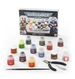 Games Workshop Warhammer 40K: Paints + Tools Set