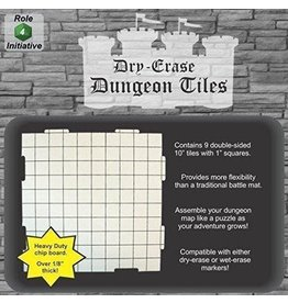 Role 4 Initiative Dry Erase Dungeon Tiles - Pack of Nine 10' Interlocking Tiles