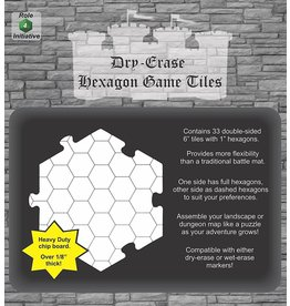 Role 4 Initiative Dry Erase Dungeon Tiles - Hexagon Game Tiles