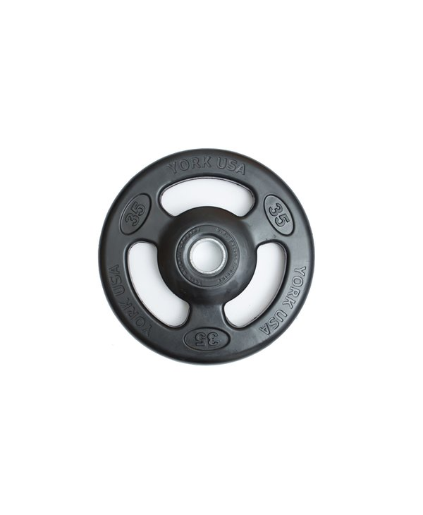 York Iso-Grip Rubber Olympic Weight Plate, Pair