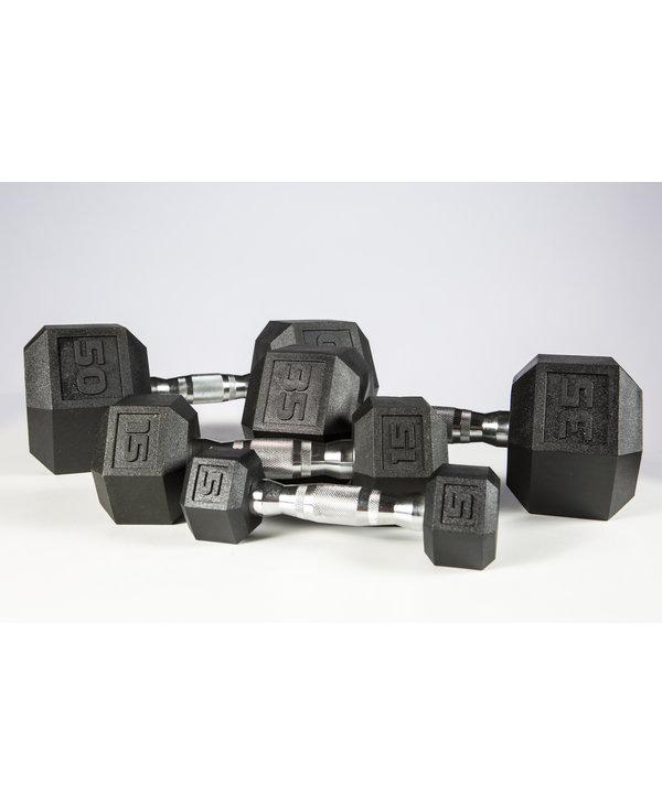 York Premium PVC Hex Dumbbell Set 5-50lbs