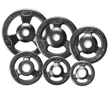 York Iso Grip Rubber Olympic Set, 300lbs