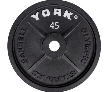 York Standard Olympic Cast Iron  Weight Plate, pair
