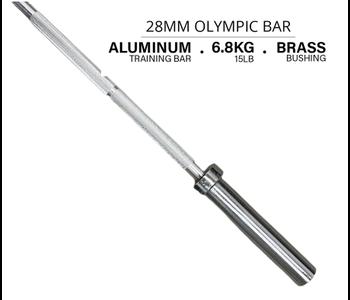 Aluminum Training Bar, 15 LB